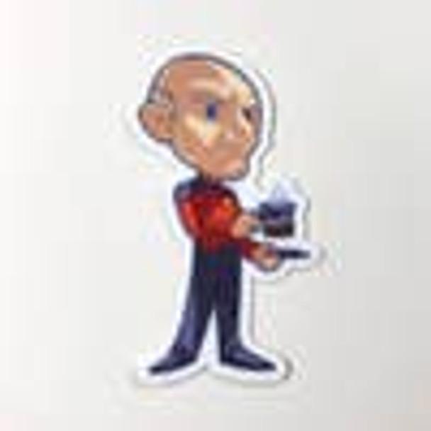 Captain Picard Vinyl Sticker
