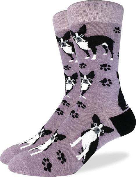 Boston Terrier Socks Size 13-17