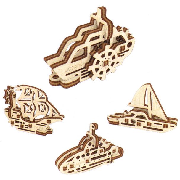 UGears Mini Models Boats