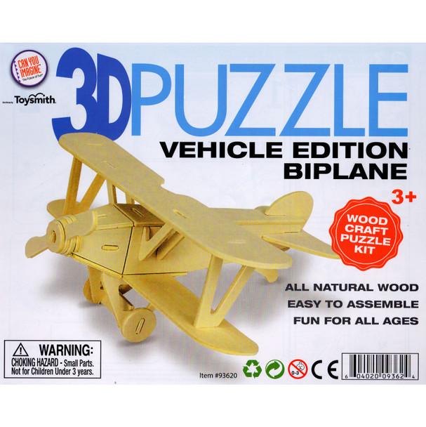Wooden 3D Puzzle Biplane