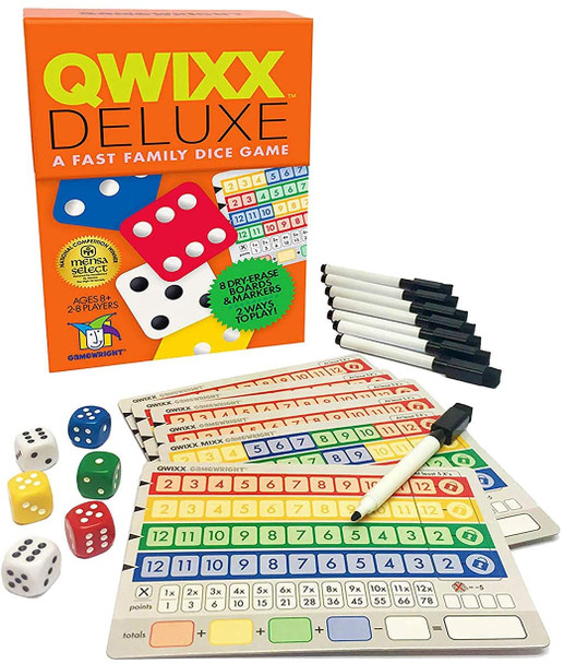 Qwixx Deluxe Fast Family Dice Game 2-8 Players