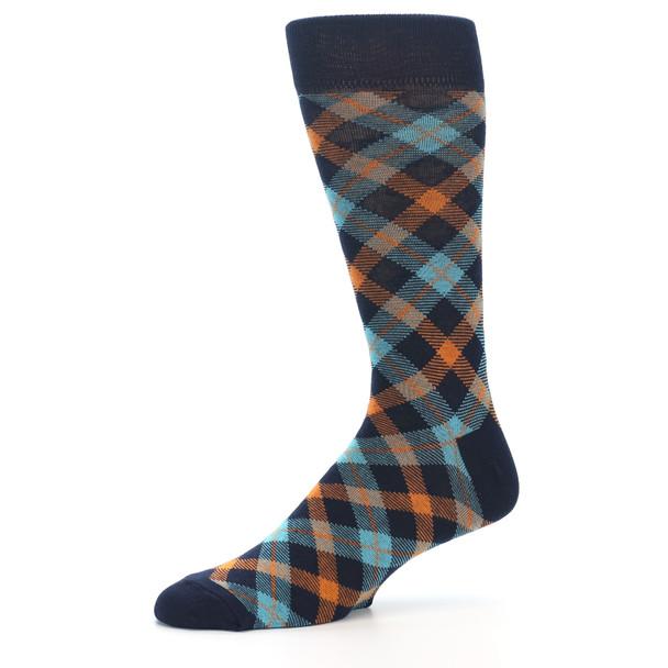 Aqua Plaid Socks