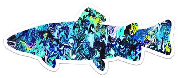 Fish Art Sticker