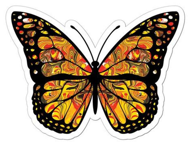Monarch Butterfly Art Sticker