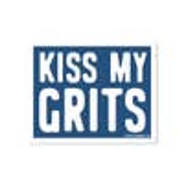 Kiss My Grits Sticker