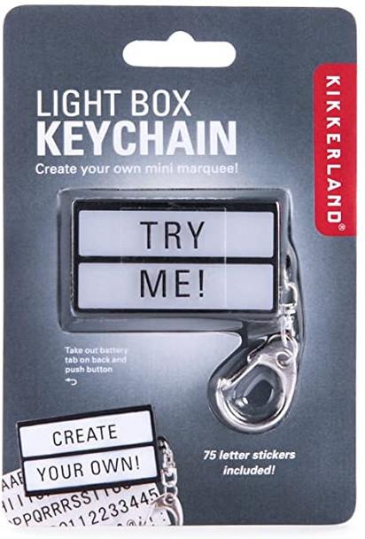Light Box Keychain Accesory