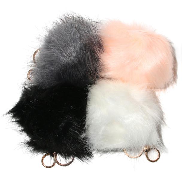 Large Faux Fur Pom Accessory