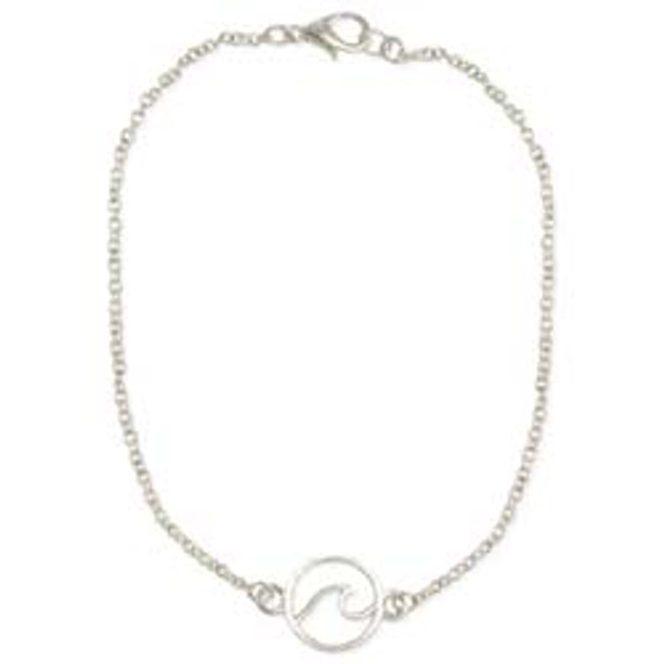 Wave Chain Anklet