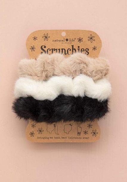 Fuzzy Scrunchie Set