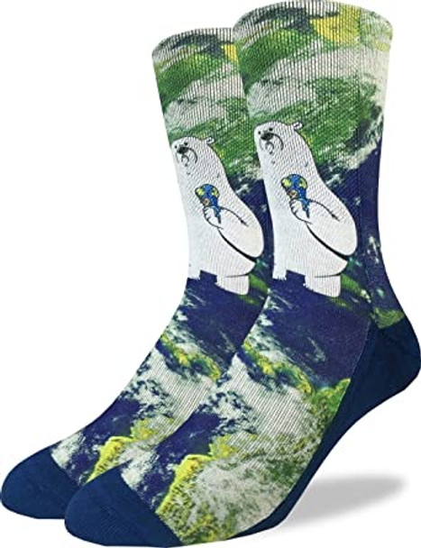 Global Warming Polar Bear Socks