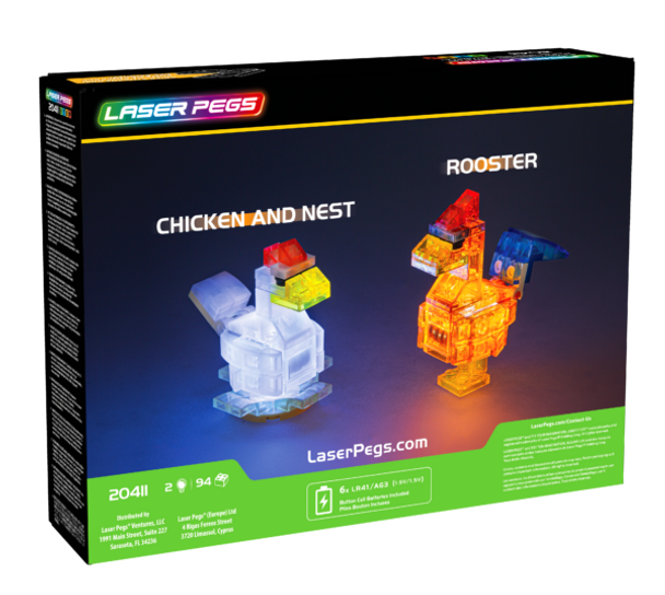 Laser Pegs Chicken & Rooster