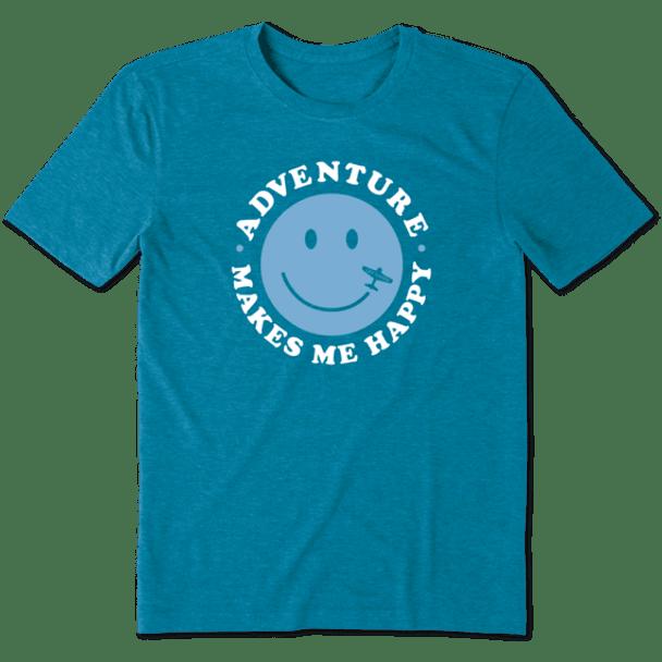Adventure Makes Me Happy Cool men's tee