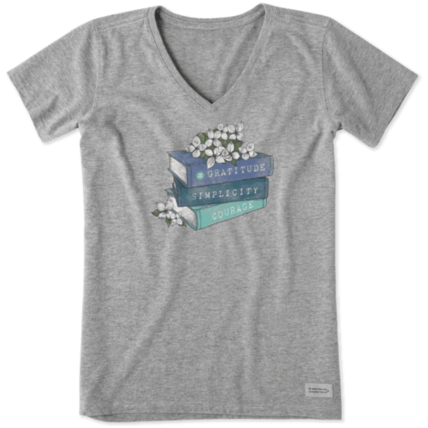 Reading Superpowers women's v-neck tee