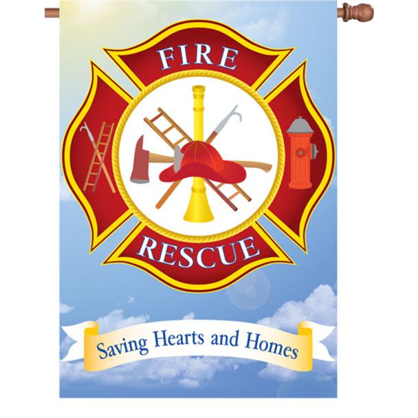 Fire rescue flag
