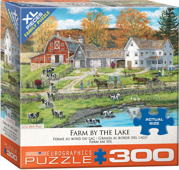 Farm by the Lake 300pc Puzzle