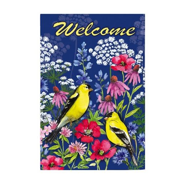 Watercolor Wildflowers Garden Banner