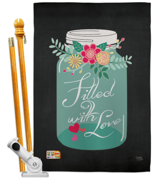 Filled With Love Flag