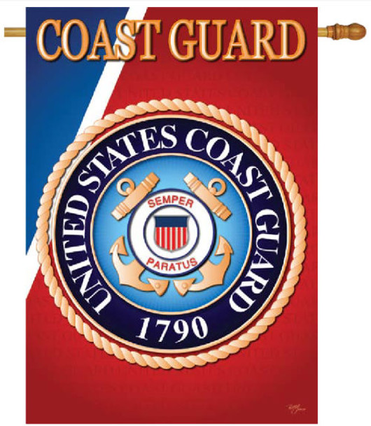 Coast Guard banner - sublimated