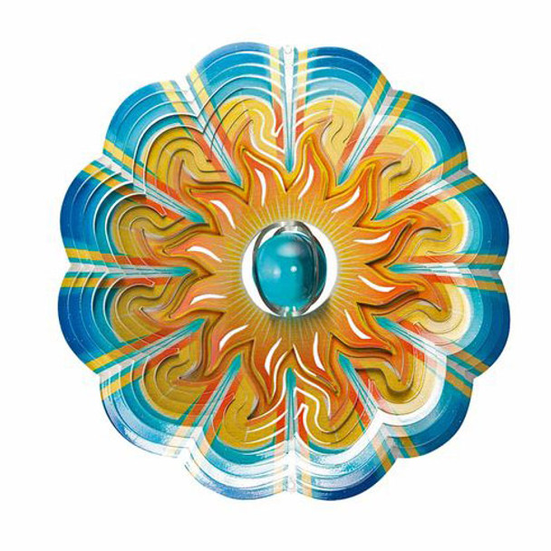 Crystal Aqua Sun Wind Spinner