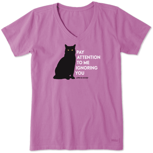 Pay Attention To Me Crusher women's tee