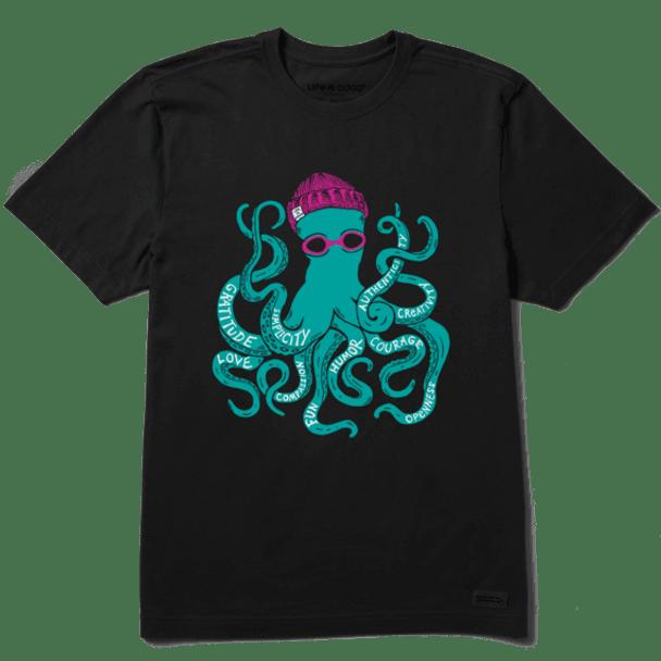 Superpower Octopus Black Short tee