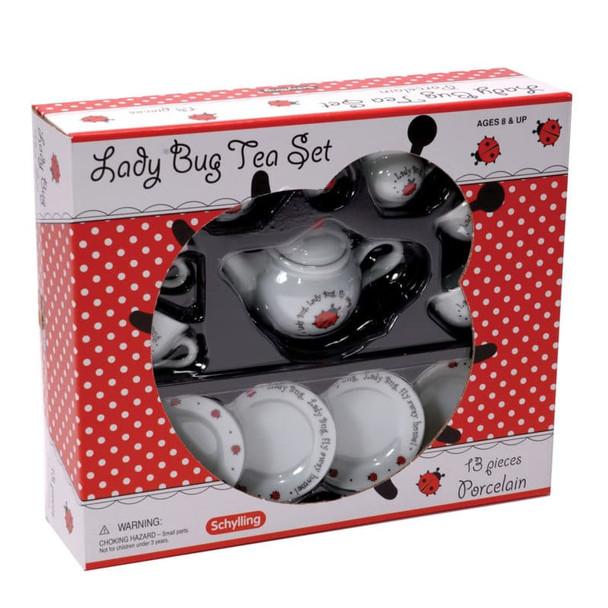 Lady Bug Porcelain Tea Set