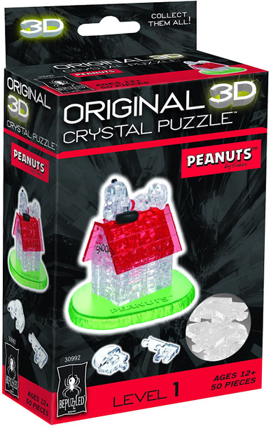 Original 3D Crystal Puzzle Snoopy & Doghouse