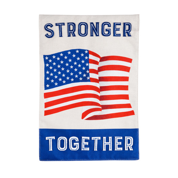 Stronger Together Garden Burlap Flag