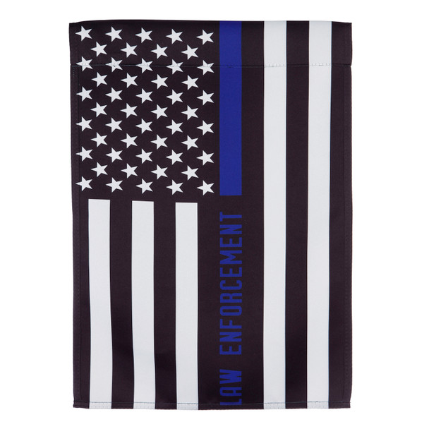 Law Enforcement Garden Suede Flag
