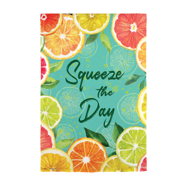 Citrus Squeeze the Day Garden Suede Flag