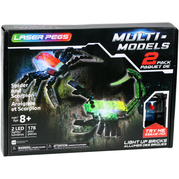 Laser Pegs Spider and Scorpion Set