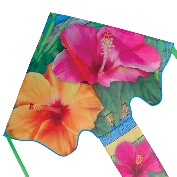 Tropical Hibiscus Large Easy Flyer Kite