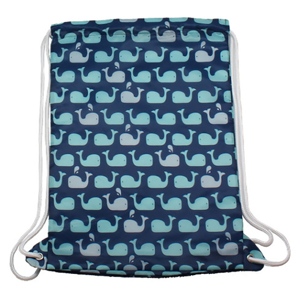 Whales Drawstring Backpack