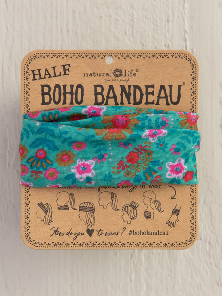 Green Floral Half Boho Bandeau