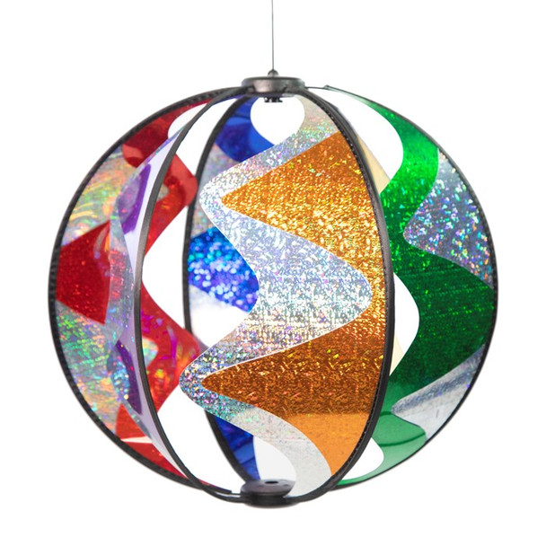 Rainbow Wave Globe Hanging Spinner