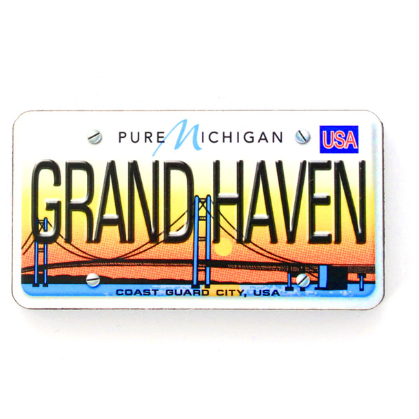 Grand Haven License Plate Magnet