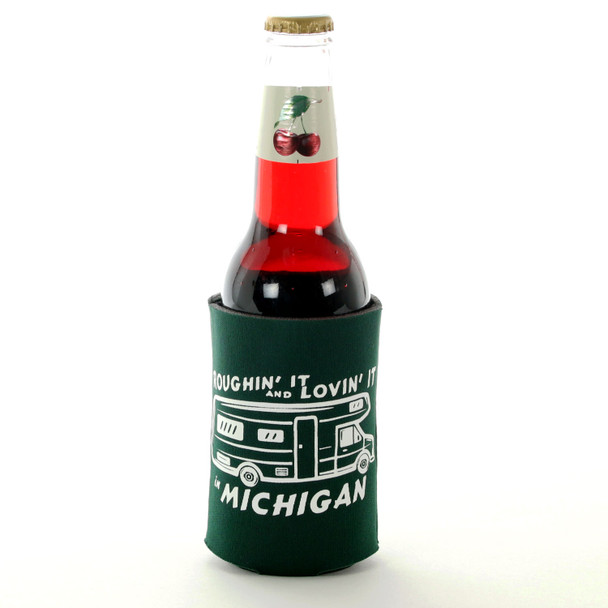 Green Happy Camper Trailer Coozie