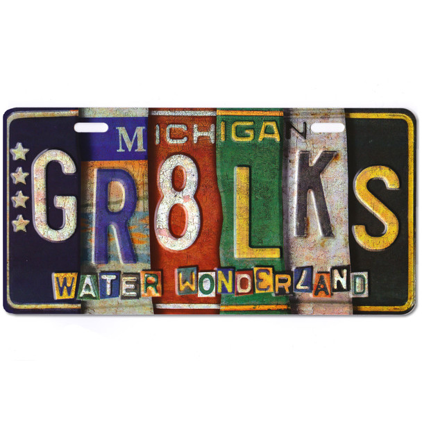 GR8 Lakes Vintage License Plate
