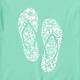 Women's Hibiscus Flip Flop V-Neck tee