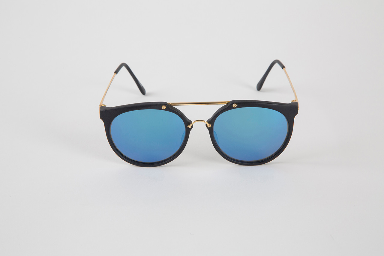 371ba02dee Black Gold frame with Glass Offshore Blue lenses