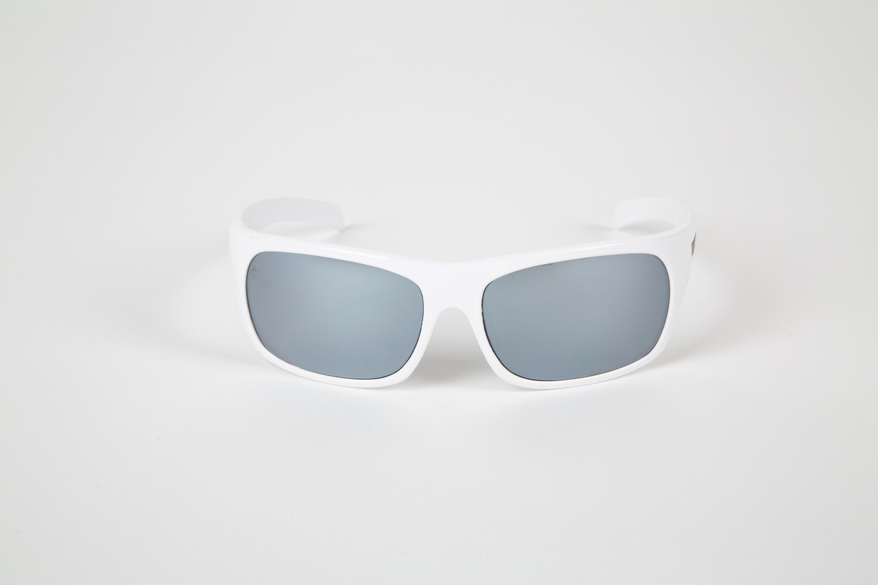 0183516a1 White frames with Glass Silver lenses