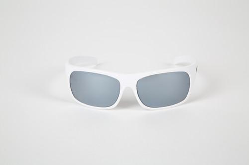 47eae0078de6 White frames with Glass Silver lenses