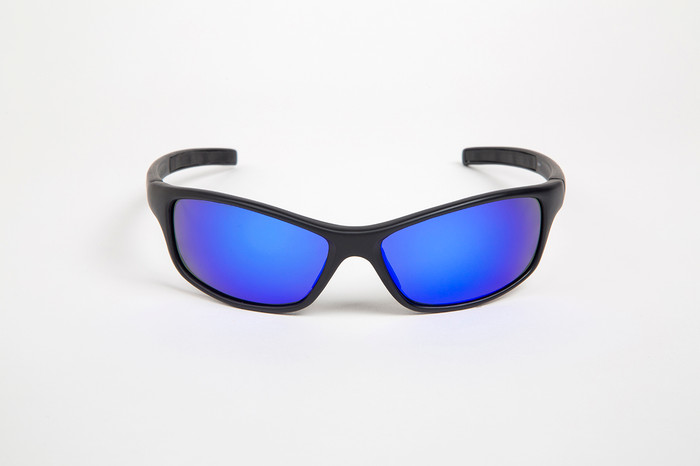 bb3fc6d028 ... Black frame with Poly Offshore Blue lenses ...