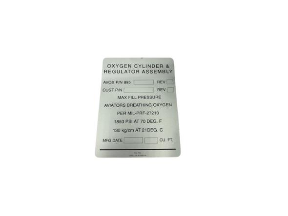 M10006144 ID Plate