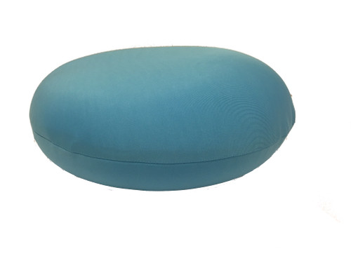 Microbead flat circle throw cushion with removable cover