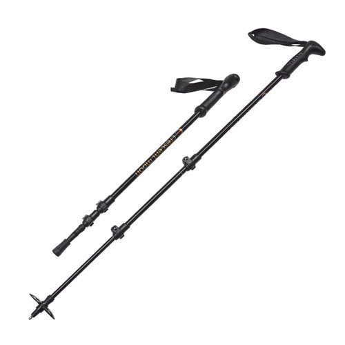 Adjustable Hiking Poles - Black