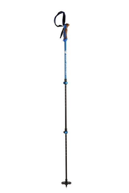 Aluminum All Season Trekking Poles with Cork Grip  (Blue)