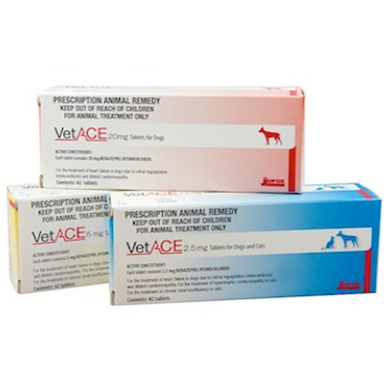 VetACE 2 5mg Tablets For Dogs & Cats - Pack of 42