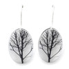 Small oval Tree earring