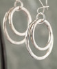 12 gauge double circle earring-silver/silver